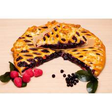 Пирог c черникой и малиной