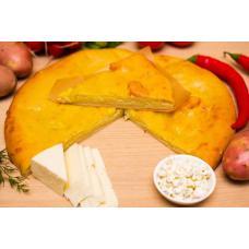 Осетинский пирог с картофелем и творогом